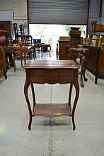 Antique French Louis XV style walnut work table,