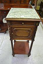 French Louis XVI nightstand with marble top