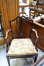 Antique English George III Mahogany armchair