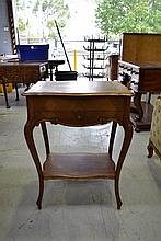 Antique French Louis XV style walnut table, approx