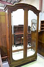 Antique French Louis XVI style two door armoire,