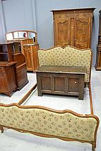 French Louis XV style upholstered double bed, c
