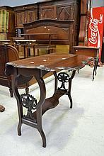 Antique English carved Mahogany dropside table,