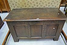 Antique 18th century carved English oak panelled