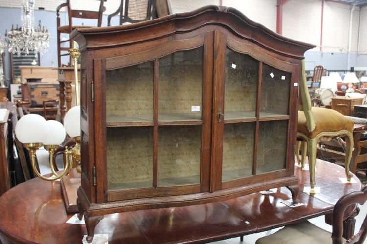 antiqued kitchen cabinets antique oak display cabinet approx 102cm h x 120cm w 10693