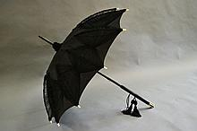 Fine quality Victorian parasol, Ebony and bone