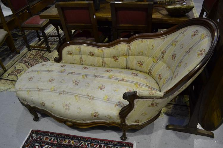 Antique french chaise lounge for Antique french chaise lounge