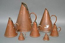 Rare set of seven graduating English funnel form
