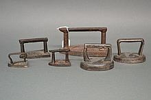 Collection of miniature antique French flat irons