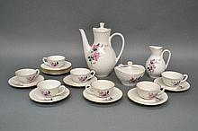 French coffee service for seven plus extra saucers