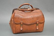 Antique French leather bag by Gustave Keller