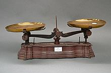 Set of antique French scales, approx 50cm L