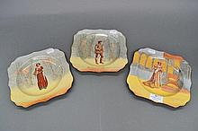 Three Royal Doulton cabinet plates Orlando,