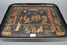 Antique Oriental Export Chinoiserie rectangular