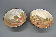 Two Royal Doulton Series ware Countryside bowls,