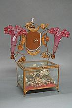 Antique French marriage glass table box with