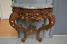 Antique French 18th century Louis XV style walnut