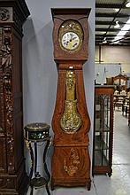 Antique 19th century French comtoise clock with