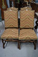 Four French mutton bone high back dining chairs