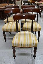 Five G. Jackson Cuban Mahogany George IV dining