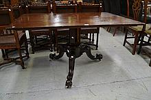 Antique Victorian Mahogany top breakfast table,