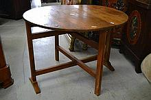 Antique French provincial oak vigneron table,