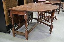 Antique English oak George II gate leg table