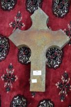 Antique French granite cross, approx 40cm H