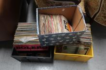 Three boxes of records (3)