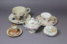 Assortment of antique & vintage porcelain to include large antique breakfast cup and saucer, Limoges, Crown Derby etc
