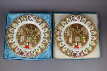 Two Coalport plates, each approx 27cm Dia (2)
