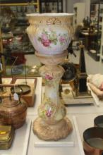 Jardiniere stand along with a Winton ware jardiniere, approx 64cm H overall (2)