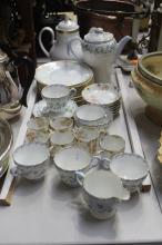 Fine china lot to include Limoges demitasse set, Shelley coffee set, etc, approx 22cm H and shorter
