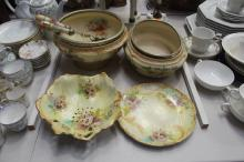 Two Royal Devon bowls along with salad servers and Imperial Wintonware bowl and plate, approx 29c,m W and smaller (6)