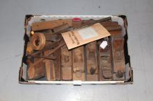 Assortment of antique and vintage wooden planes