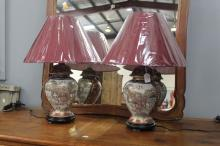 Pair of Royal Satsuma elephant lamps (2)