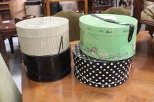 Assortment of vintage hat boxes (4)