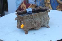 Old small French jardiniere, approx 13cm H x 27cm W