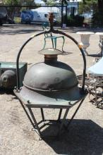 Antique French lantern, approx 88cm H