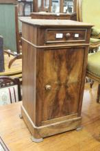 Antique French Louis Philippe nightstand, approx 72cm H