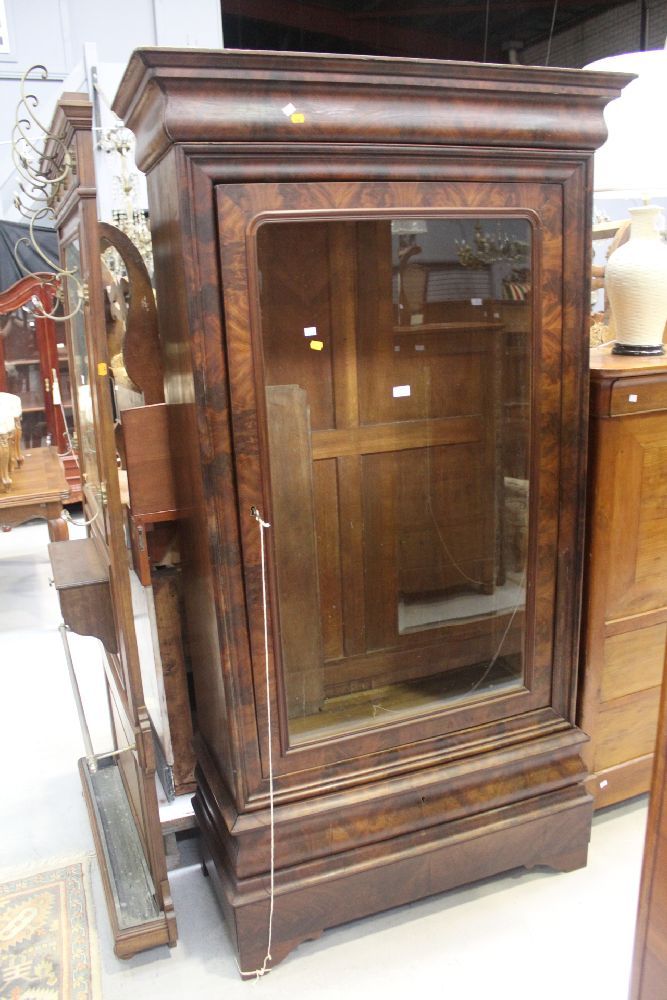 Antique French Single Door Display Cabinet Approx 210cm H X