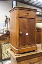 Antique French Louis Philippe nightstand, approx 70cm H