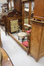 Antique French Henri II bed, approx 147cm H x 200cm L x 140cm W