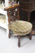 Antique French smoking / prayer chair