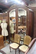 Fine Antique French two door armoire, approx 245cm H x 140cm W
