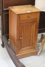 Antique French style nightstand with single drawer and door, approx 71cm H