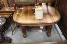 French dining table, approx 70cm H x 110cm sq