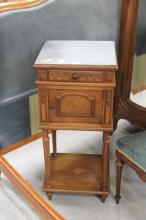 Antique Louis XVI style nightstand, approx 85cm H