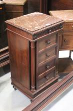 French Louis XVI style nightstand, approx 88cm H
