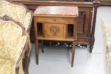 French Louis XVI style nightstand, approx 79cm H